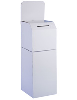 floorstanding corrugated ballot box