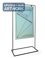 Minimalist sign stand with durable polypropylene substrate