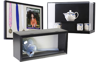 Multiple Styles of Shadow Box Display Cases for Sale