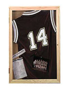 Shadow Box Displaying a Sports Jersey