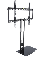 Wall Mounted TV Bracket with Glass AV Shelf for Residential Homes