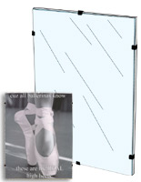 Glass Clip Picture Frame