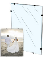 frameless frames clear acrylic glass poster holders