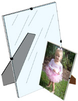 Clear Picture Frames Glass Acrylic Frameless Frames