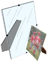 glass clip photo frame