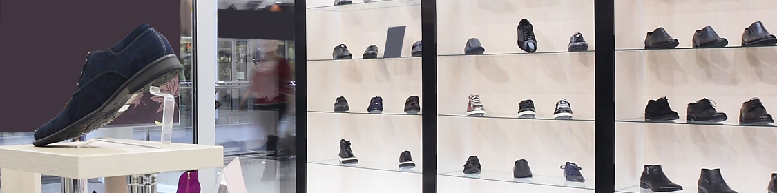 Shoe Store Displays, Shelves & Signs