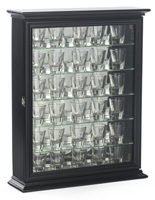 Shot Glass Cabinets for Wall or Countertop Use