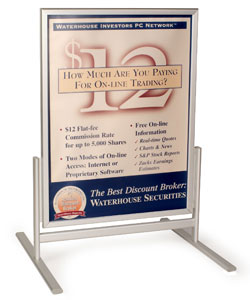 sidewalk sign & floor standing poster