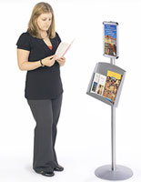 Floor Standing Menu Holder