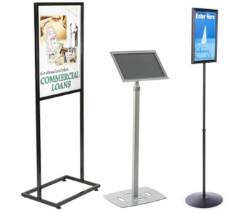 Sign and poster floor stands