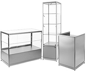 Silver Essentials Series Retail Showcases and Counters
