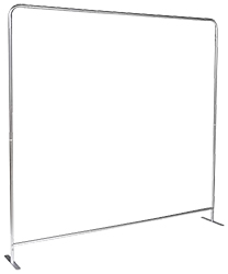 Single panel hollow tube backdrop frame