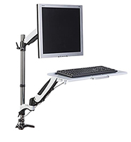 Countertop Single Monitor Mounts with Clamp