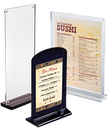 Table Tent Sign Holders Clear Acrylic Displays For