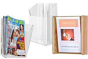 Single Pocket Wall Literature Holders