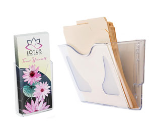 Single Pocket Wall Mount Literature Holders