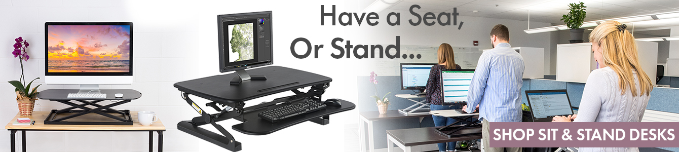 sit or stand desks for home or office use
