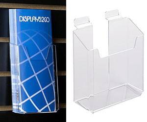 Literature Holders for Slatwall Display Fixtures