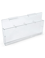 Slatwall Acrylic with Adjustable Pockets