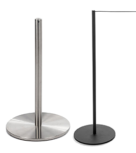 museum stanchions with slim profile