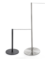 Slim profile museum-style stanchions