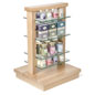 Wood Post Display Gondola for Retail Stores