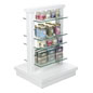 Two Post Glass Gondola Rack with 6 Shelves