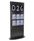 Black Slatwall Kiosk with Magazine Holders