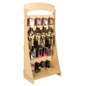 "Durable Freestanding Slatwall Display with 4"" Black Hooks"