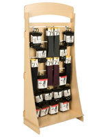 "Knock Down Freestanding Slatwall Display with 4"" Chrome Hooks"