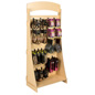 "Knock Down Freestanding Slatwall Display with 8"" Black Hooks"