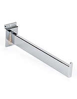 "Metal slatwall chrome 12"" faceout arm"