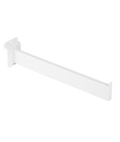 12 Inch White Straight Faceout Attachment for Slatwalls