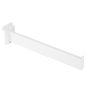 12 Inch White Straight Faceout with Rectangular Tubing