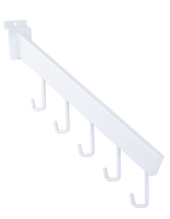 White Metal Waterfall Faceout with Five Hooks