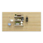 Large Maple Slot Wall Panel Board with White Shelves