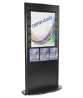 "Slatwall Kiosk with Magazine Pockets for 8.5"" x 11"" Literature"