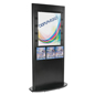 "Slatwall Kiosk with Magazine Pockets with 22"" x 28"" Poster Frames"