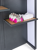 Add-on shelf for SMWMFD with overall dimensions of 24 inches wide and 16 inches deep