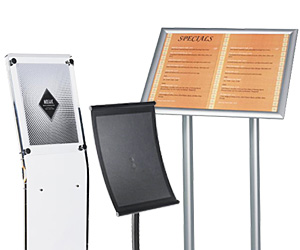 Small Format Sign Stands