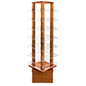 Revolving wood literature rack with durable oak construction