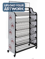 Bakery bread rack signage for BAKCRT6WBK with lightweight styrene construction