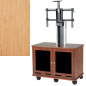 Modern Honey Maple Veneer LED Trolley