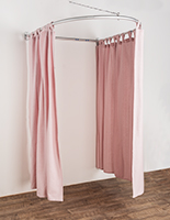 Wall mounted semicircle changing room kit