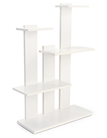 4-tier merchandise shelves with 6 pound weight capacity per shelf