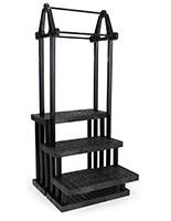 Greenhouse shelving merchandising display with matte black finish