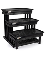 3 tier plastic garden center display rack is easy to assemble