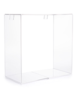 14 inch wide acrylic display cube for gridwall