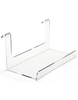 Acrylic gridwall display shelf with raised lip