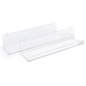 24x5x7 acrylic gridwall shelving with durable construction